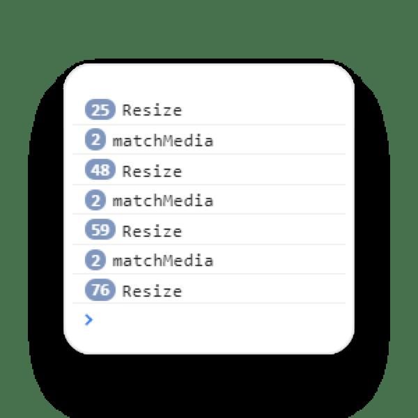 matchMedia vs resize