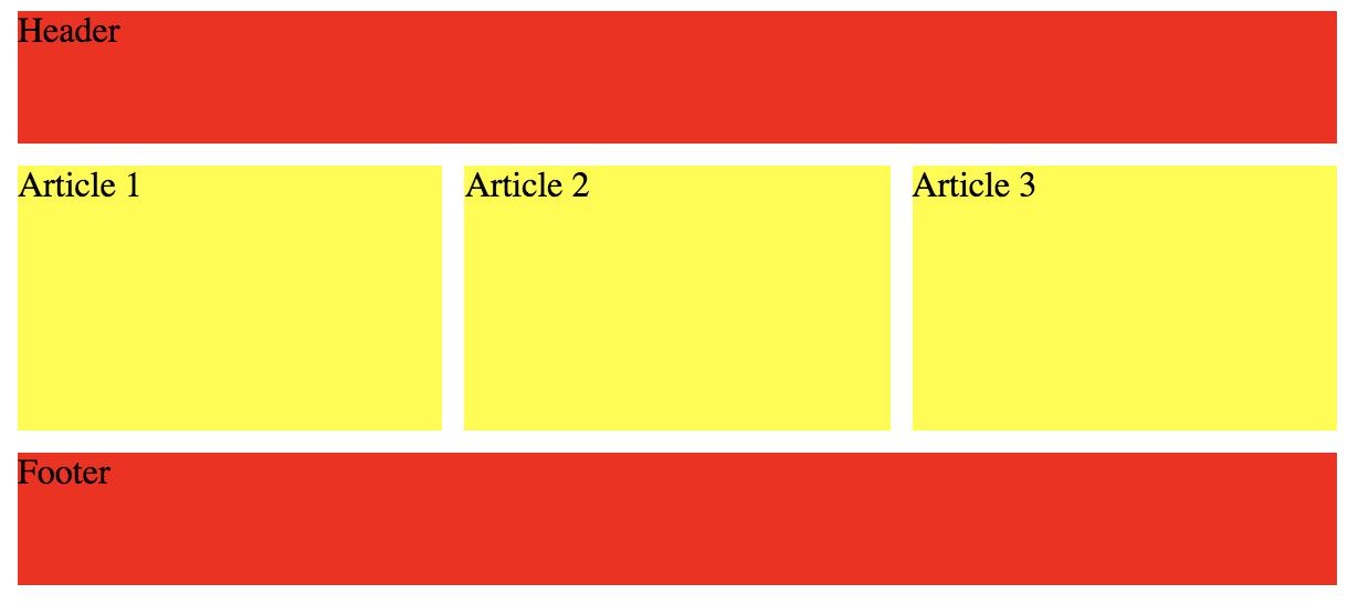 полностью адаптивный в 3 колонки CSS-grid макет