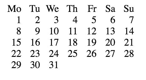 Calendar layout based on CSS-grid