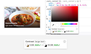 Использование Firefox DevTools для оценки читаемости текста поверх изображения