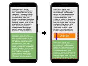 Сдвиг макета при добавлении контента